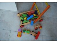 Lovely Wooden Walker for Baby and Toddlers