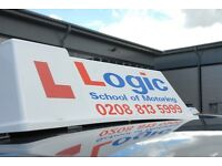 High quality, affordable driving lessons with Logic! FIRST 4 LESSONS FOR £60! FEMALE ADI'S AVAILABLE