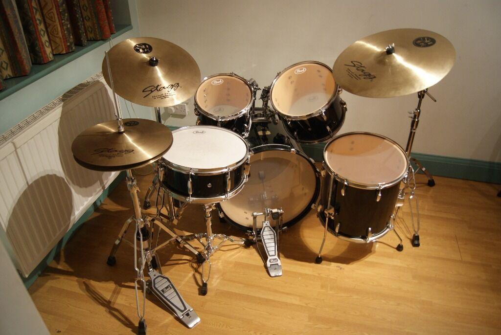 Hi Hat Cymbals Gumtree Brisbane : pearl export series drum kit with stagg cymbals in willesden green london gumtree ~ Russianpoet.info Haus und Dekorationen