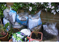 Gravel, 7 bags, from a garage roof. Enough to cover a single car garage flat roof
