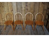 Ercol chairs x4 OR x8 or x10 mid century modern elm natural finish vintage retro gplanera