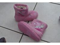 Peppa pig slipper boots infant size 7