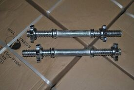 Brand New Standard Dumbbell Handles with Collars (weights gym barbell bars dumbbells)