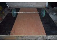 Olympic Weightlifting/Deadlift Platform - Weights Gym Rubber Matt Plywood