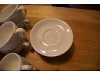 19 white saucers IKEA