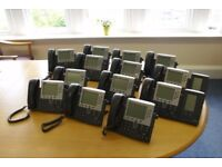 CISCO UNIFIED IP PHONE SYSTEM (14 INDIVIDUAL UNITS)
