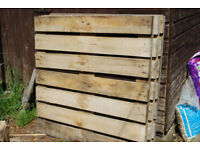 Five Sections Heavy Duty Sectional Fencing 1m x 1m. Made from recycled timber.