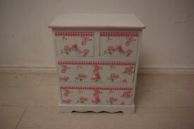 Beautiful elm wood children small cabinet