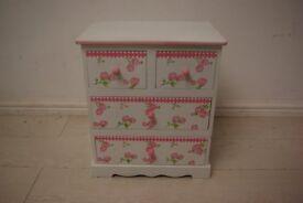Beautiful elm wood children small cabinet