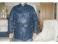 belstaff/barbour style leather motorcycle jacket