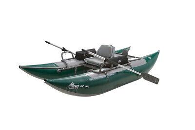Outcast Sporting Gear PAC 1000 Series Inflatable Pontoon Boat Green Outcast Pontoon Boats