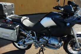 bmw gs1200 low miles 29000 full history higher second seat bash plate spare screen