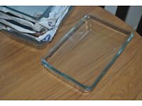 6 Oven/serving dish MIXTUR Clear glass 27x18cm