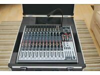 Behringer XENYX X2442 USB 24-channel mixer desk in Thomann hard case