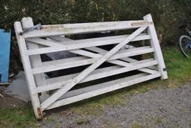 2 x 5 wooden 5 bar gates. 240mm x 120mm. solid but need painting