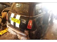 BREAKING MINI COOPER S 3DR 2002 GREEN HALF LEATHER MOST PARTS AVAILABLE 112k