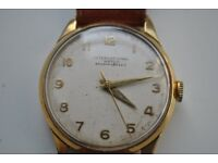 Vintage 1950's IWC Gents 18ct Gold Watch