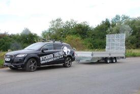 Landscape trailer, car transporter 14.7x7.2 class 2700kg