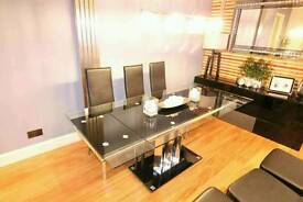 Glass Dining Table plus 6 dining chairs