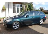 BMW 520D Touring. Metallic Green in lovely condition and low mileage. Full MOT