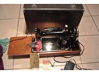 Singer electric sewing machine Model 201K Serial Number EG561492