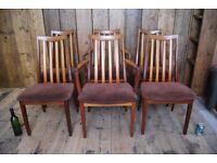 G Plan Sierra/Fresco chairs x6 or x2, x4, 8x, x18 etc Mid mod Danish teak era vintage retro carver
