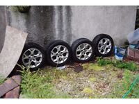 """16"""" vauxhall 5 stud alloys in excellent condition"""
