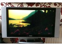 32 INCH TV IN SILVER FOR SALE