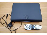 SKY HD BOX with Sky handset and power cable.