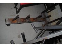 Used Standard Weight Plate Storage Rack on Wheels - Weights Gym
