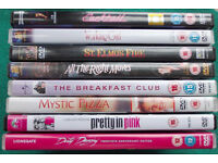 8 x DVD Movies - Classic 80s Chick-Flick films - incl. Breakfast Club and Dirty Dancing