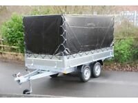 Box trailer 3m x 1.5m twin axle 750kg with drop sides