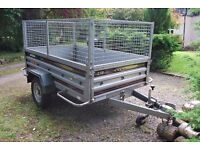 Daxara 238 camping/garden tipping trailer with Mesh side cage extension