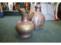 Antique Copper & Brass Jugs.