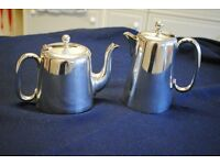 Silver tea and coffee pots for sale, excellent condition **PRICE REDUCED**