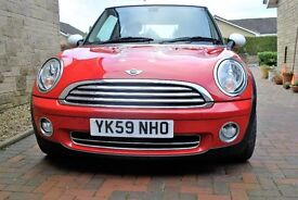 MINI COUPER RED with decals chilli pack half leather seats MOT September 17