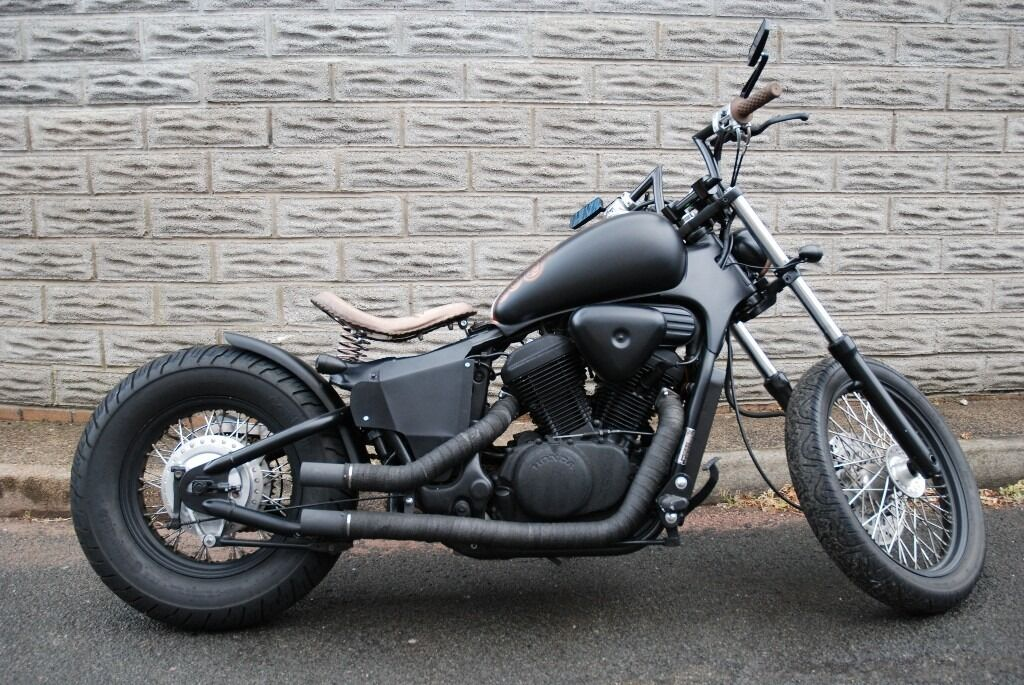 Honda shadow vt600 custom bobber in north cornelly for Honda vt 600
