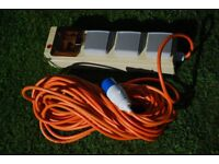 Camping 240volt mains hook-up lead
