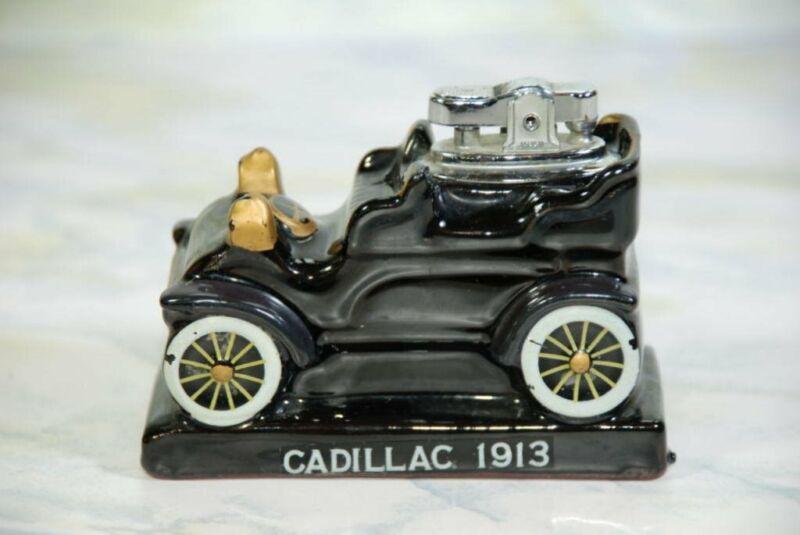 VINTAGE AMICO PORCELAIN REDWARE 1913 CADILLAC TABLE LIGHTER