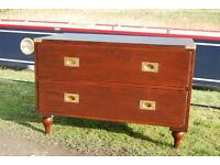 Campaign chest (style) - 2 drawer chest of drawers