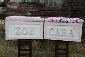LARGE HANDMADE PERSONALISED CHILDREN'S TOY BOX