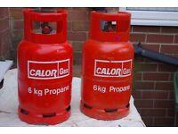Calor Gas Bottles Empty 6 kg Propane