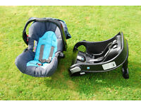 Graco Mirage Car Seat with Isofix base from a smoke free home.