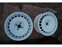 "O.Z Rally Route Wheels 15"" 4x100 7J ET27 PAIR ONLY"
