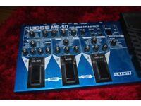 Boss ME-50 guitar pedal board