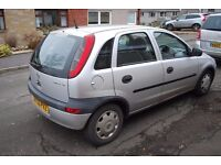 vauxhall corsa 1199cc silver 03 plate 450 no offers swap for 7 seater
