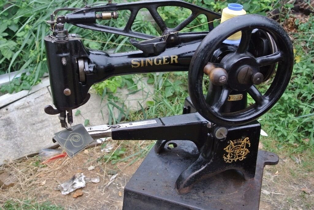 Singer 40K40 Cylinder Arm Boot PatcherCobblers Industrial Sewing Stunning Where Is The Serial Number On A Singer Sewing Machine