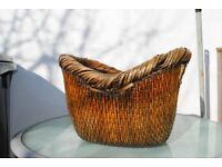 nice sturdy wicker log basket