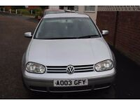 VW GOLF GT TDI PD130 2003 5 DOOR HATCHBACK MOT 2017 FSH ONLY £1595