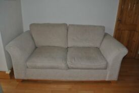DFS 2 seater sofa in cream